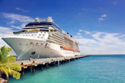Fotomural Crucero de Lujo barco en el puerto