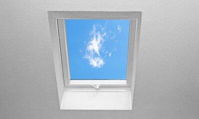 Fotomural Cubierta inclinada con ventanas