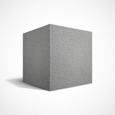Fotomural Cubo de hormigón