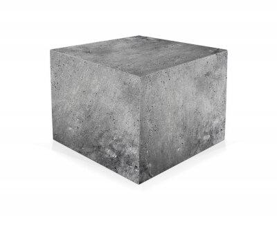 Fotomural Cubo de hormigón aislado