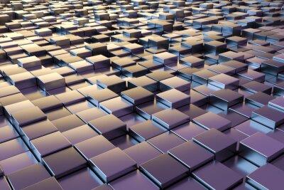 Fotomural Cubos metálicos púrpuras