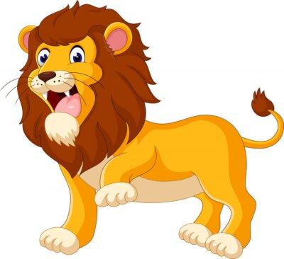 Fotomural Cute dibujos animados del león de la ilustración
