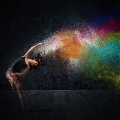 Fotomural Danza con pigmentos de colores