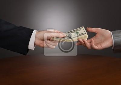 Fotomural dar dinero