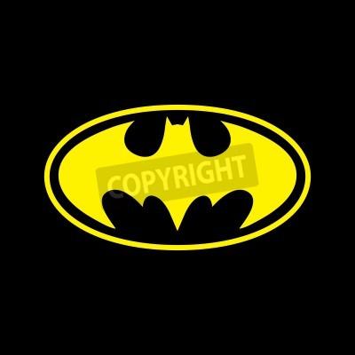 Fotomural DC cómics de superhéroes Batman logo amarillo sobre fondo negro