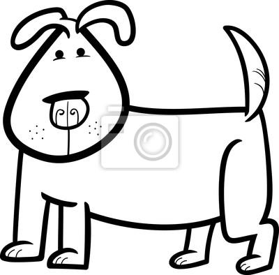 De dibujos animados dibujo de perro lindo para colorear fotomural ...