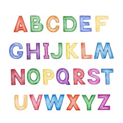 Fotomural De dibujos animados para niños ABC