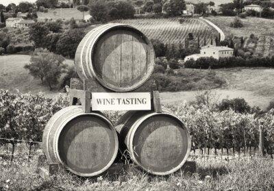 Fotomural degustación de vinos