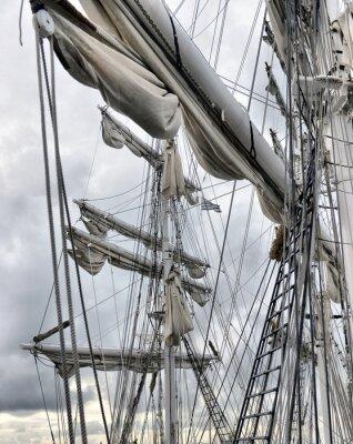 Fotomural Del área de embarque del velero viejo
