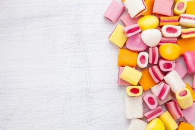 Fotomural Delicioso caramelo dulce con espacio de copia