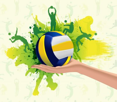 Fotomural Deporte Voleibol diseño de fondo