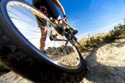 Fotomural Deportes. Bicicleta de montaña y hombre.Deporte en exteriores