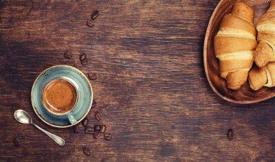 Fotomural Desayuno con café y croissants