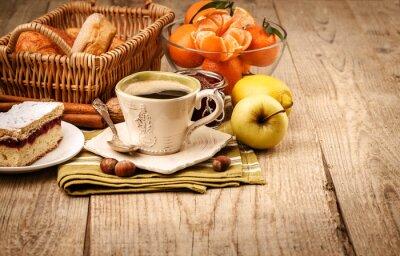 Fotomural Desayuno de la mañana con café y frutas