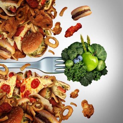 Fotomural Descubrimiento de la dieta de la salud