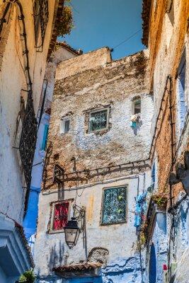 Fotomural Detalle arquitectónico en Chefchaouen, Marruecos, África