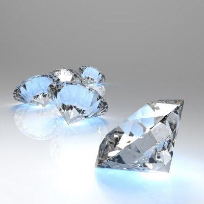 Fotomural Diamantes 3d en la composición