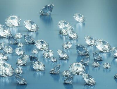 Fotomural Diamantes en el fondo azul