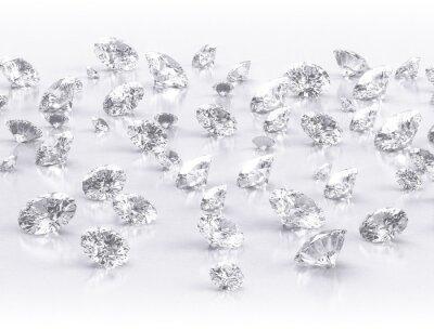 Fotomural diamantes en grupo grande en el fondo blanco