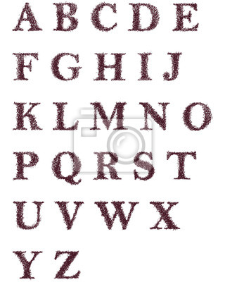 fotomural dibujado a mano las letras decorativas del alfabeto ingls - Letras Decorativas