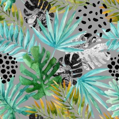 Fotomural Dibujado a mano resumen de antecedentes de verano tropical