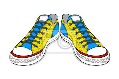 Dibujo de calzado deportivo. juventud fácil calzado fotomural ... a915eb6dc4234