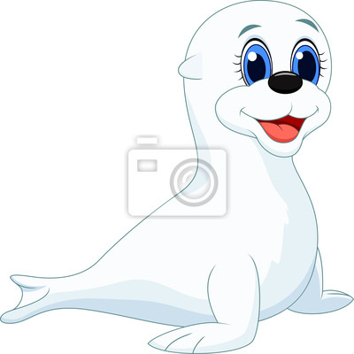 Dibujos animados cra de foca fotomural  fotomurales arpa