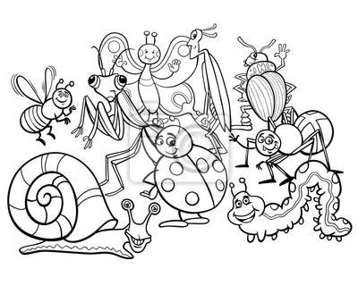 Fotomural Dibujos Animados De Animales De Dibujos Animados Para Colorear