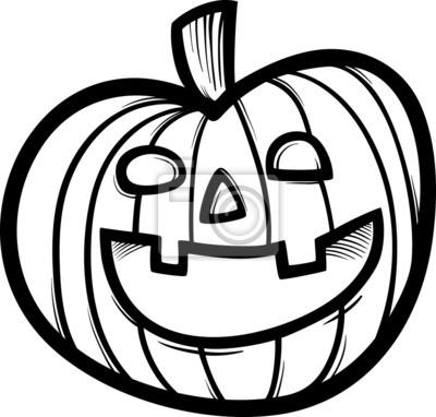 Dibujos animados halloween calabaza para colorear fotomural ...
