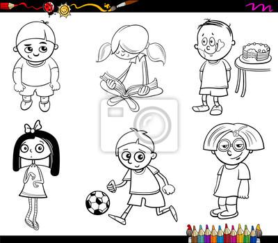 Dibujos animados para colorear fotomural • fotomurales colorante ...
