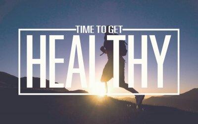 Fotomural Dieta saludable Fit Actividad Deporte Estilo de vida Propósito Concepto