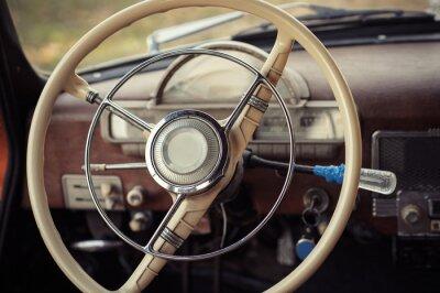 Fotomural Dirección, retro, coche