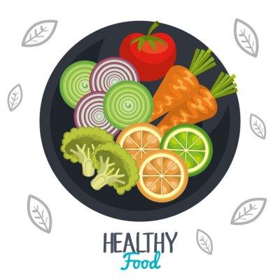 Fotomural Diseño de alimentos saludables