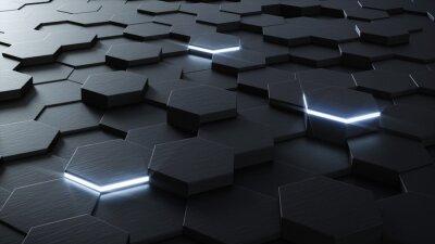 Fotomural Diseño de fondo hexagonal 3D Técnica