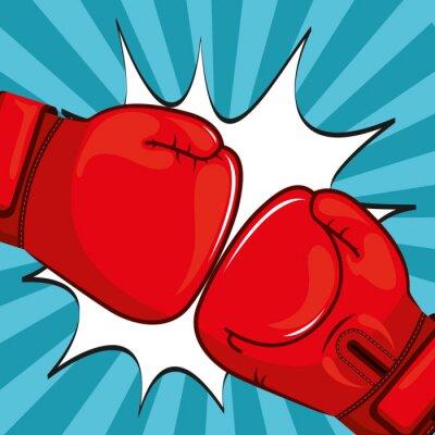 Fotomural Diseño de guantes de boxeo