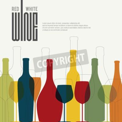Fotomural Diseño de lista de vinos