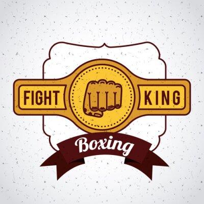 Fotomural Diseño del deporte del boxeo