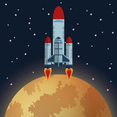 Fotomural Diseño del icono del espacio