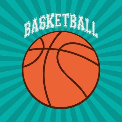 Fotomural Diseño deportivo de baloncesto
