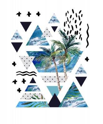 Fotomural Diseño geométrico del cartel del verano abstracto.