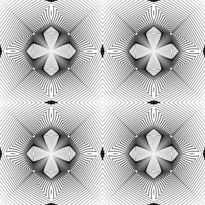 Fotomural Diseño patrón geométrico monocromo transparente