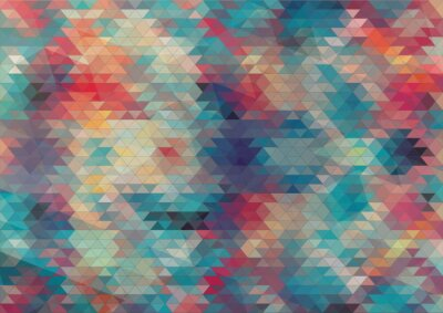 Fotomural diseño plano de fondo colorido geométrico