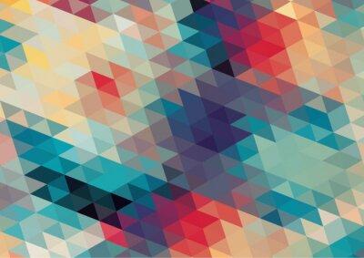 Fotomural diseño plano retro de fondo geométrico colorido