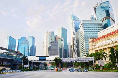 Fotomural Distrito de negocios de Singapur