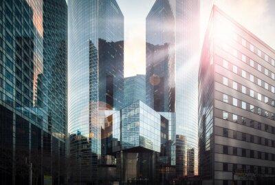 Fotomural Distrito financiero bajo el sol