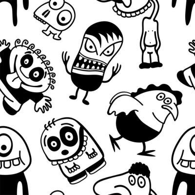 Fotomural Divertidos personajes de dibujos animados de fisuras.