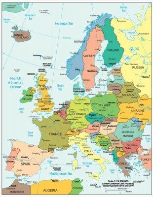 Fotomural Divisiones políticas europeas