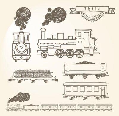 Fotomural Doodle de tren. EPS8.