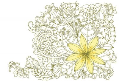 Fotomural Doodles florales