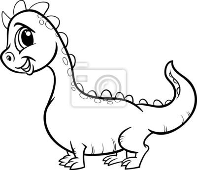 Dragón para colorear personaje de dibujos animados fotomural ...